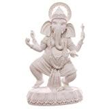 Ganesh Statue debout blanc décoration 19cm