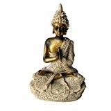 Ganesha Méditation Bouddha Statue de Grès Sculpture Figurine Fait à la Main - # 2