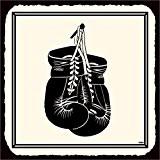 Gants de boxe en métal style vintage art Sport Plaque en métal 30,5x 30,5cm carré en métal signes rétro