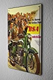 Garage moto Plaque émaillée BSA groupe Décoratifs Wall signes 20x30 cm