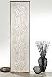 Gardine Rideau à œillets ou paroi japonaise en branches naturelles, style batiste naturel ou semi-transparent, rideau moderne chic décoratif Type ...