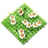 Gazon artificiel carré avec détails printemps temps Jonquilles–Printemps/Pâques herbe/Shop Fenêtre–24cm 24x cm