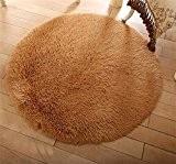 GCR Tapis tapis d'accueil main lavage ronde soie tapis Yoga couverture Salon lit chevet Bunker chaise d'ordinateur , 60cm