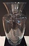 Géant Vase de sol de cristal transparent, grand vase de verre clair soufflage à bouche, grand vase de sol, vase ...