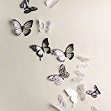 Generic 18pcs DIY 3D Butterfly Wall Stickers Art Decal PVC Butterflies by Generic