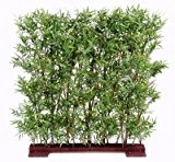 Generique - Bambou Artificiel Oriental Haie Dense 110Cm - Vert