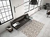 Géométrique Motif Tapis Moderne Plat Tapis Taupe Offre - Taupe, 80cm x 150cm