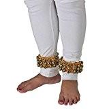 Ghungharu traditionnel pour la danse-Instrument de musique indienne pour chevilles-60 clochettes sur coussins rembourés