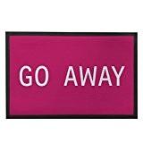 GO Away extérieur Tapis en caoutchouc Rose Tapis de porte d'entrée 80x 50cm Paillasson humoristique avec citation Chambre à coucher ...