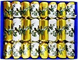 Gold and White Winter Birds Family Christmas Crackers (Craquelins) - hand filled in UK with quality gifts for all the ...
