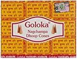Goloka Nag Champa Lot de 12 boîtes de cônes d'encens