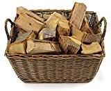 Grand panier en Osier soi pour porter du bois ou pour du stockage.