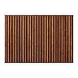 Grand tapis de bambou couleur marron