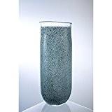 Grand vase colonne LUXOR, gris, fabriqué à la main, 41 cm - Vase en verre / Vase à fleurs - ...