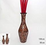 Grand Vase Décoratif avec Mosaiques de Verre 80 cm, Céramique, Multicolore