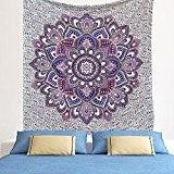 Grande Exclusif Violet Bleu Ombre Mandala Tapisserie par raajsee, Bohemian Tapisserie, mur tapisserie à suspendre, Hippy Hippie tapisserie Taille 210* ...