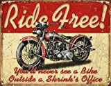 Grande moto Garage sans RIDE Vintage Plaque murale métallique 1699