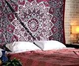 Grande Tapisserie Hippie, Hippie Mandala Bohemian Tapisserie, Indian Dorm Decor, Psychédélique Tapisserie Wall Hanging Tapisserie décorative ethnique, 85 x 90 ...