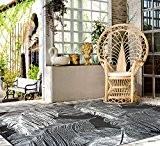 """Green Decore 180 x 270 cm """"Leaves"""" Tapis d'Intérieur et d'Extérieur Réversible en Plastique Recyclé, Indoor / Outdoor Tapis Écologique ..."""