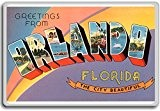 Greetings From Orlando City Beautiful, Florida - Vintage 1940s Postcard fridge magnet - Aimant de réfrigérateur