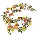 Guirlande de lierre artificiel, 197 feuilles, automne, 180 cm - Feuillage artificiel / Décoration automnale - artplants