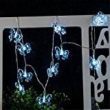 Guirlande Lumineuse 10 Led à Piles en forme de cheval bleu décoration pour intérieur et extérieur mariage anniversaire jardin maison ...