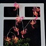 Guirlande Lumineuse 10 Led à Piles en forme de Flamant rose décoration pour intérieur et extérieur mariage anniversaire jardin maison ...
