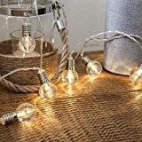 Guirlande Lumineuse 10 Mini Ampoules Rondes Transparentes à LED 1,50 Mètre à Piles