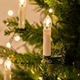 Guirlande Lumineuse de Noël avec 50 Bougies Crèmes LED Blanc Chaud à Pince pour Sapin par Lights4fun