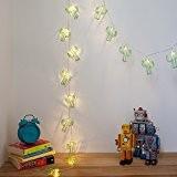 Guirlande Lumineuse LED avec 20 Cactus en Métal Vert à Piles pour Intérieur par Lights4fun