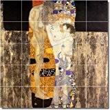 Gustave Klimt abstrait de Salle de Bain pour carrelage mural 23. 152,4x 152,4cm à l'aide (25) 12x 12Dalles en céramique.