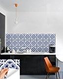 Ha Ha pour carrelage simple style Taille des variations des produits..., Vinyle, Blue Talavera, 15x15 CM