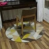 Hall de salle de bain Tapis de sol Tapis moderne géométrique Tapis Étude ronde Tapis chambre à coucher Tapis de ...