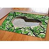 HALOVIE Antidérapant Paillasson Tapis De Cuisine Porte Paillasson tapis d'entrée Avec 3D drôle motif Absorbant Tapis Doormat 40x60cm