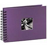 Hama Album photo Fine Art, 50 pages noires (25 pages), album à spirales 24 x 17 cm, avec découpe pour ...