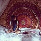 handicraftofpincity Wandbehang Elefanten-Mandala Tapisserie indischer Hippie-...