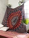 Handicrunch Multicolore Mandala Tapisserie indienne mur de COR Suspendre, Drap , Coverlet nique Plage Fiche , Qualité Supérieure Hippie Tapisserie ...