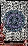 Hanging Handicrunch Hippie Tapisseries mur, Tapisserie indienne Mandala Couvre-lit, dortoir tapisserie, Vintage murale décorative Suspendre, tapisseries pour dortoirs