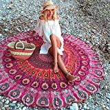 HanSemay Indian Mandala ronde / carré Gypsy Wall Hanging, Boho Gypsy coton serviette de plage Serviette de plage, mur décoratif ...