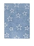 Happy Decor Kids hdk-215 Tapis lavable Stars, blu-bianco, 120 x 160 cm