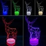 Happy Fd Illusion optique incroyable 3D Glow Lampe LED Cerf Lights Sculpture Art Produit uniques Effets lumineux et visualisation 3D ...