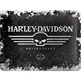 Harley Davidson Black Skull signe d'acier (na 2015)