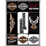 Harley Davidson Fridge Magnet Set