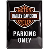 Harley Davidson Parking Only Grand Panneau En Métal 400mm x 300mm (na)