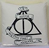 Harry Potter Coussin alwaysthrow Taie d'oreiller Housse de coussin, Pad non inclus–Toucher doux, coussin décoratif, de haute qualité, photo, œuvres ...