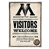 Harry Potter Ministry Of Magique A5 Panneau En Acier