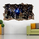 Harry Potter Poster smahed Chambre Cartoon Stickers muraux en 3D Art (Taille M (52 x 52 x 30 cm))