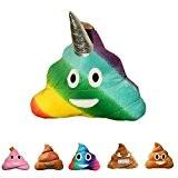 haufi Emoji Smiley Poop Coussin – Oreiller dans caca forme de, licorne, Microfibre