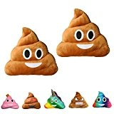 haufi Emoji Smiley Poop Coussin–Oreiller dans kackh aufen forme de, Microfibre, Haufi 2, 28 cm