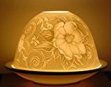Heckenrose motifs flowerpower lanterne photophore en porcelaine pour bougie chauffe-plat